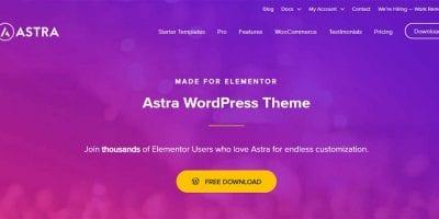 WooCommerce website using Astra theme