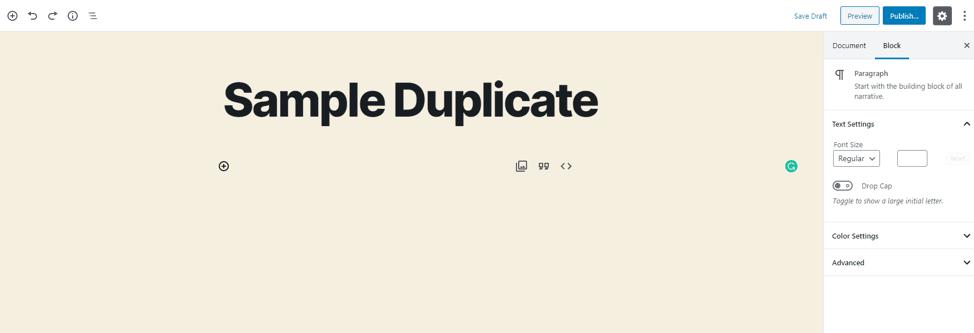 duplicate page wordpress