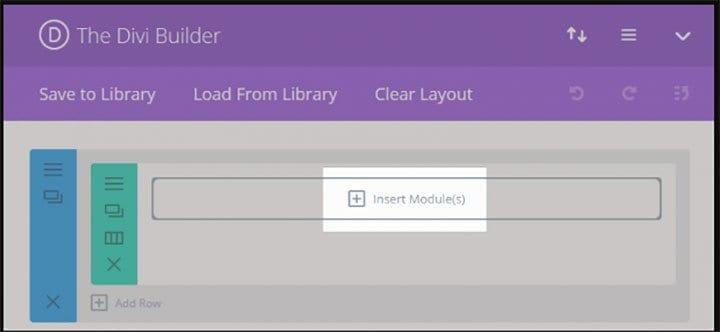 Divi insert module