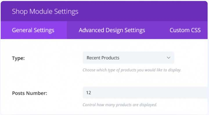 Divi select products to display