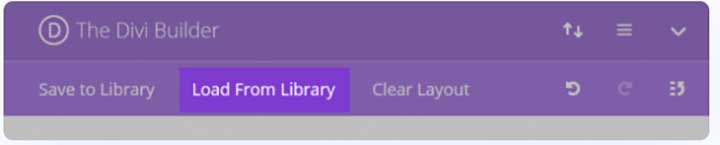 load from library option