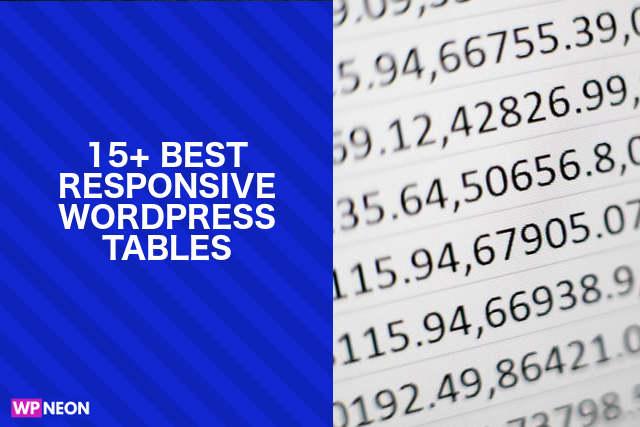 Best Responsive WordPress Tables