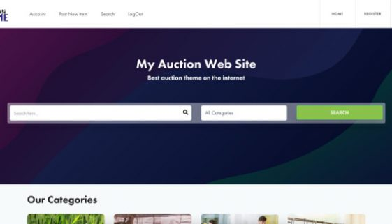 wordpress auction theme review